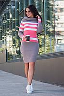 Платье вязанное Памела (7 цветов), теплое платье осеннее, дропшиппинг, фото 1