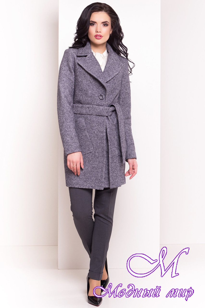 Шерстяное женское осеннее пальто (р. S, M, L) арт. Габриэлла 4419 - 33768
