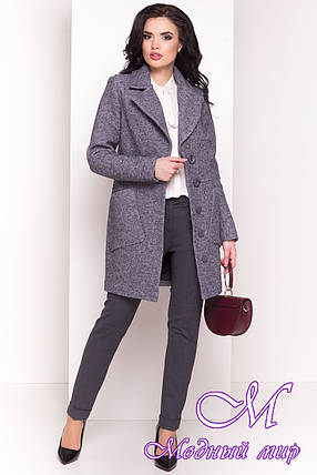 Шерстяное женское осеннее пальто (р. S, M, L) арт. Габриэлла 4419 - 33768, фото 2