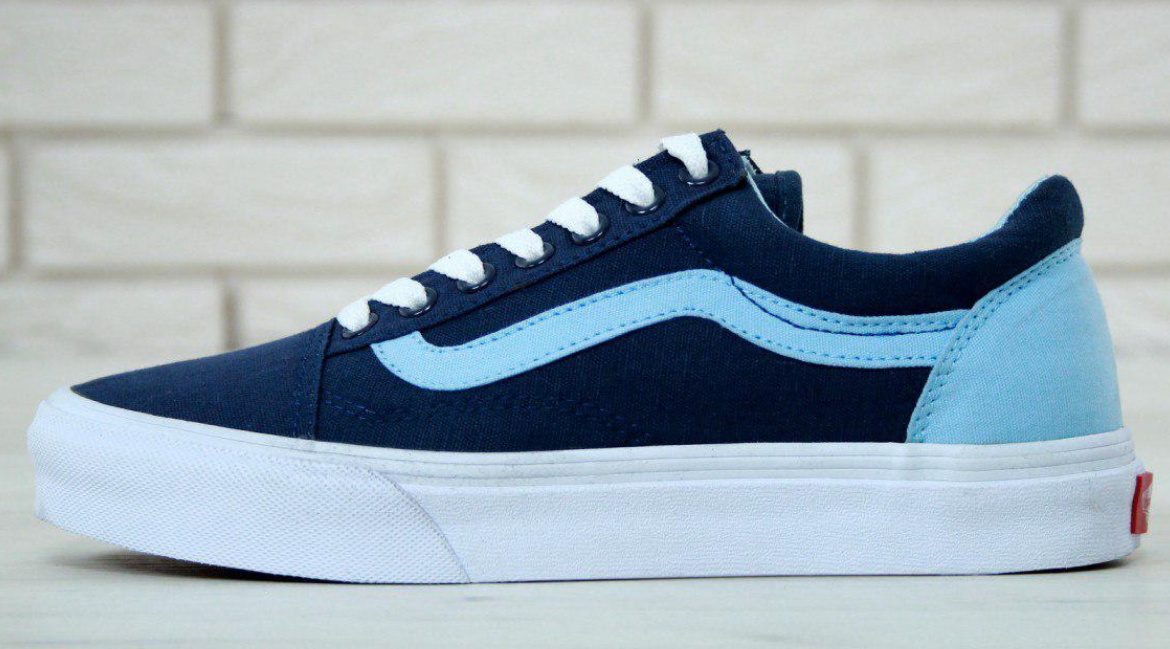 Кеды Vans Old Skool Blue, Ванс Олд Скул Синие