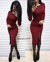 Женское трикотажное платье с люрексом, фото 1