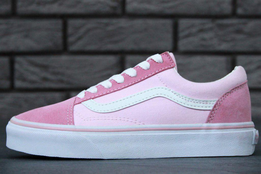 Кеды Vans Old Skool Pink, Ванс Олд Скул Розовые