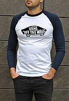 Мужская футболка с рукавом Vans ТОП Качества Реплика