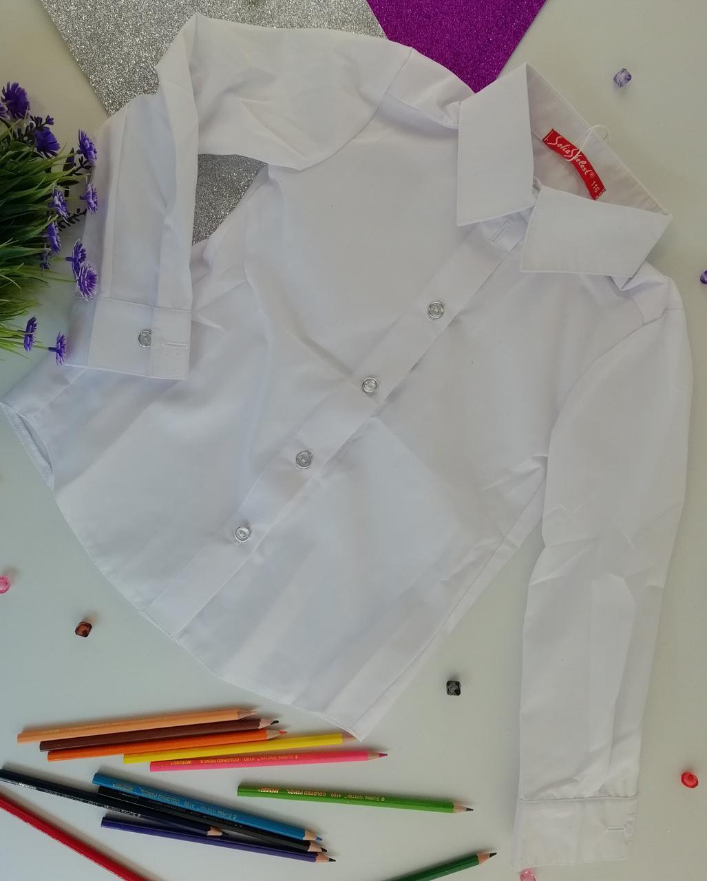 Шкільна форма для дівчаток Сорочка №7 Білий, 122 РО334 Sofia Shelest