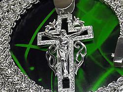 Серебряный крест с ониксом