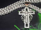 Серебряный крест с ониксом, фото 2