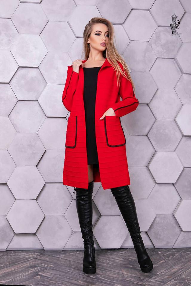 Красный цвет Женского кашемирового кардигана Ила