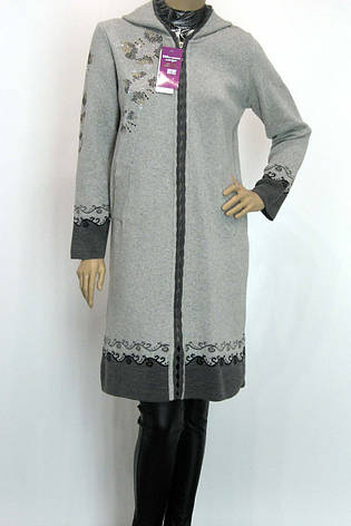 Жіноче  шерстяне пальто з капюшоном, фото 2