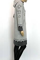 Жіноче  шерстяне пальто з капюшоном, фото 3