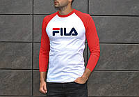 Мужская осенняя футболка с рукавом в стиле Fila
