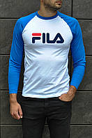 Мужская осенняя футболка с рукавом FilaТОП Качества Реплика