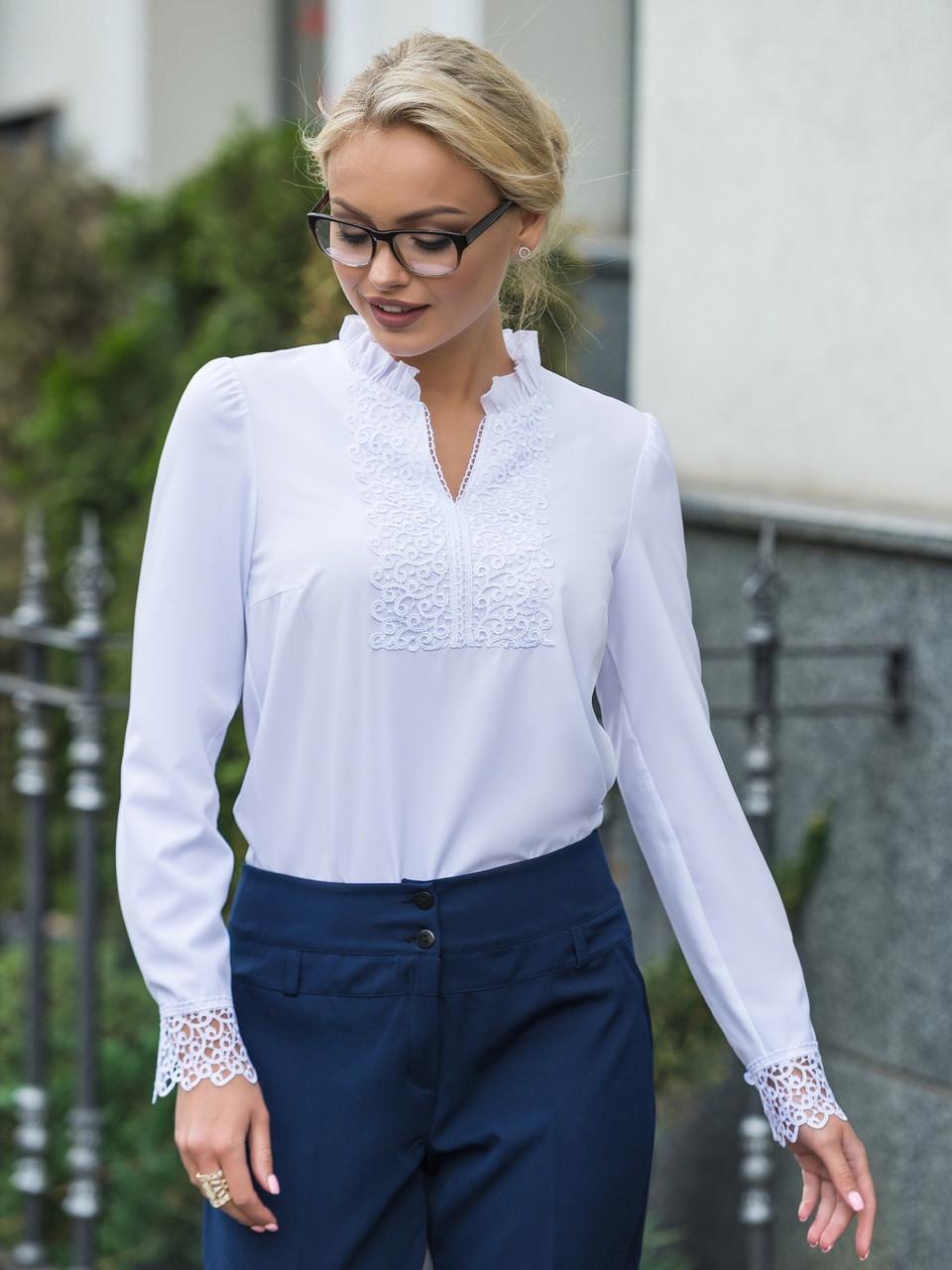(S, M, L, XL) Вишукана романтична біла блузка Junis