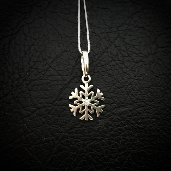 Серебряный кулон (подвеска)Снежинка