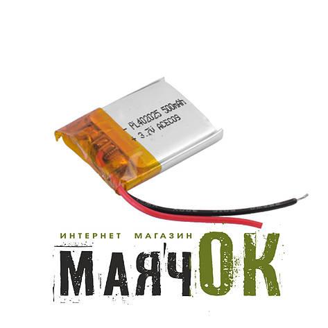 Аккумулятор литий-полимерный 402025, 500mah, фото 2