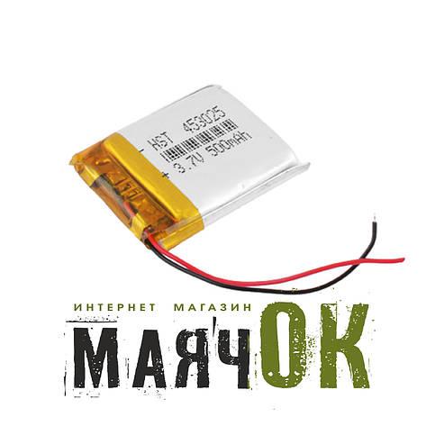 Аккумулятор литий-полимерный 453025, 500mah, фото 2