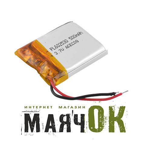 Аккумулятор литий-полимерный 602530, 500mah, фото 2