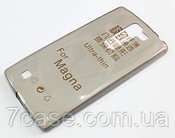 Чехол LG Magna Y90 h502 / LG G4c h522y силиконовый ультратонкий прозрачный серый
