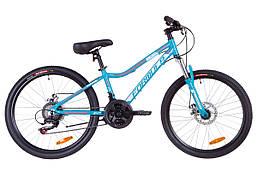 """Горный подростковый велосипед 24"""" Formula ACID 1.0 AM 14G DD Al 2019 (аквамарин)"""