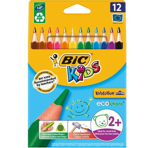 Карандаши цветные Bic Evolution Kids Triangle