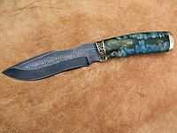 """Нож ручной работы из дамасской стали """"Боец"""""""