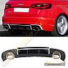 Диффузор стиль RS3 для Audi A3 2012-16 Hatcback