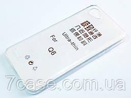 Чехол для LG Q6 M700 силиконовый ультратонкий прозрачный