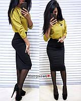 Женский комплект из джерси (кофта+юбка), фото 1