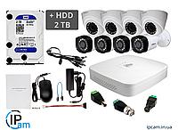 Комплект видеонаблюдения Dahua KIT8CIO 2Мп HDCVI + HDD 2Tb (комбинированный)