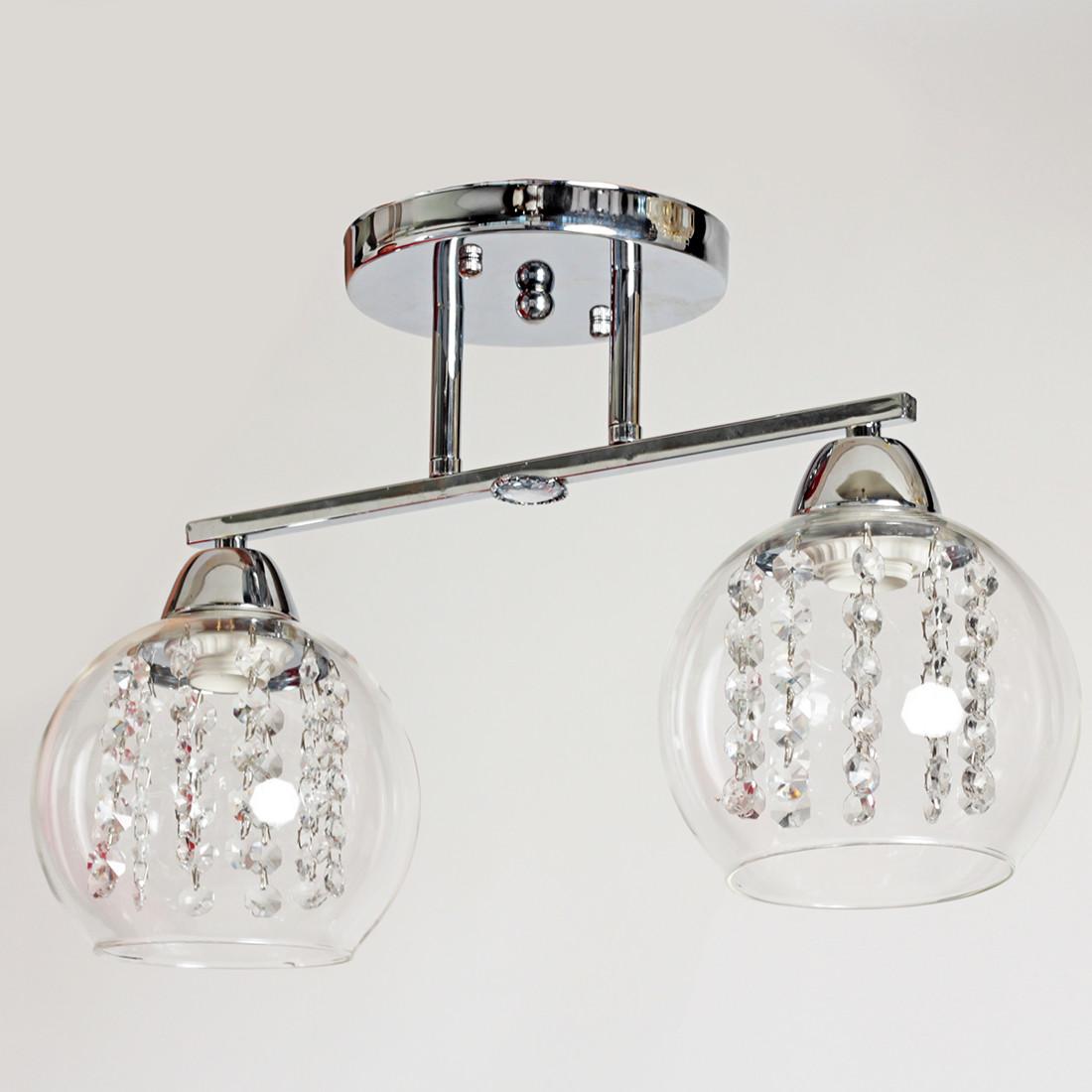 Люстра недорогая потолочная 2-х ламповая в спальню, на кухню, в прихожуюSH-1165/2 CR