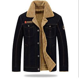 Куртка мужская джинсовая на меху демисезон/еврозима