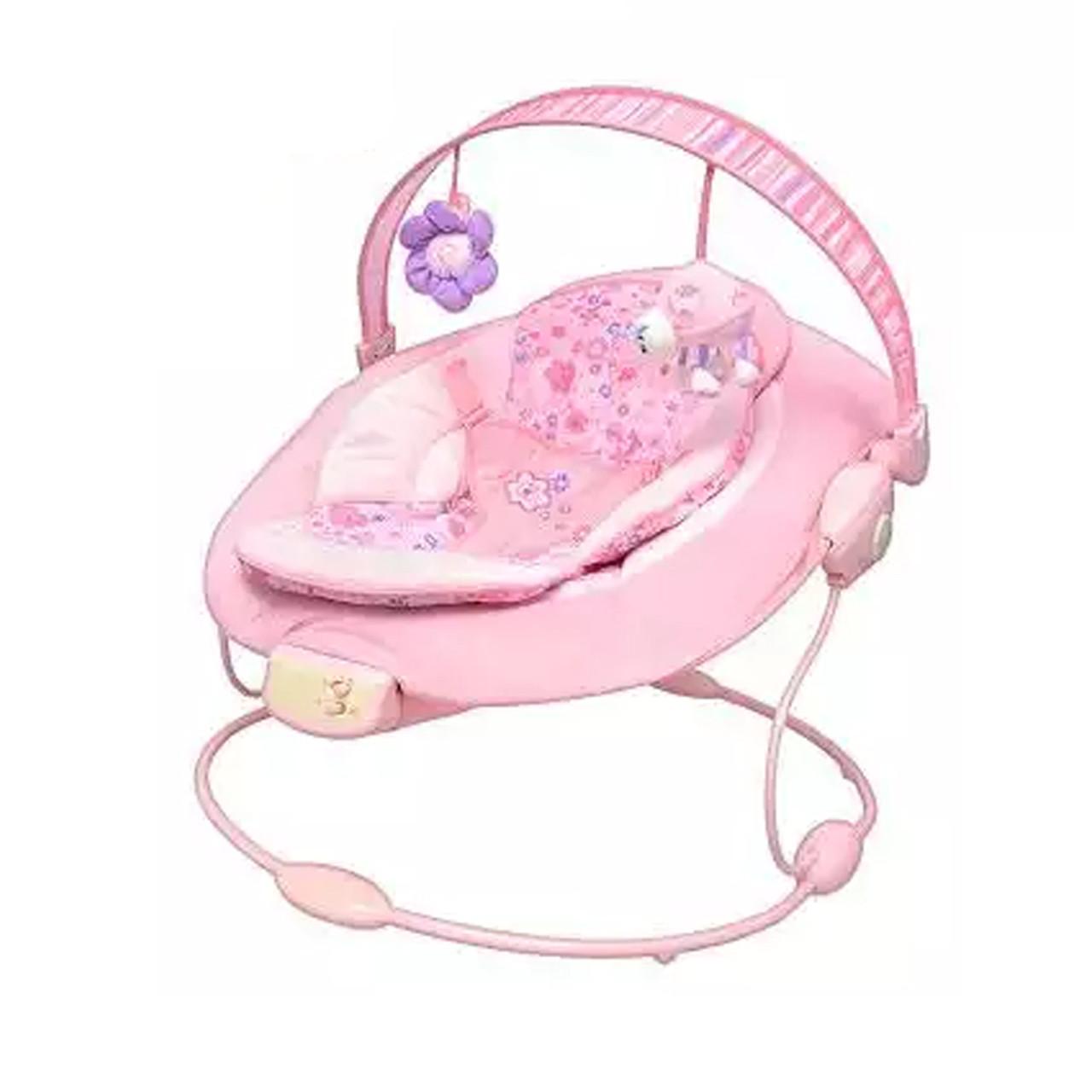 Детский шезлонг  розовый 60681-1