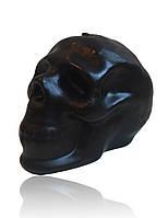 Свеча череп чёрный на хеллоуин