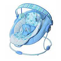 Детский шезлонг голубой 60682-1