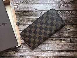 Кошелек клатч портмоне бумажник коричневый мужской женский Louis Vuitton премиум реплика
