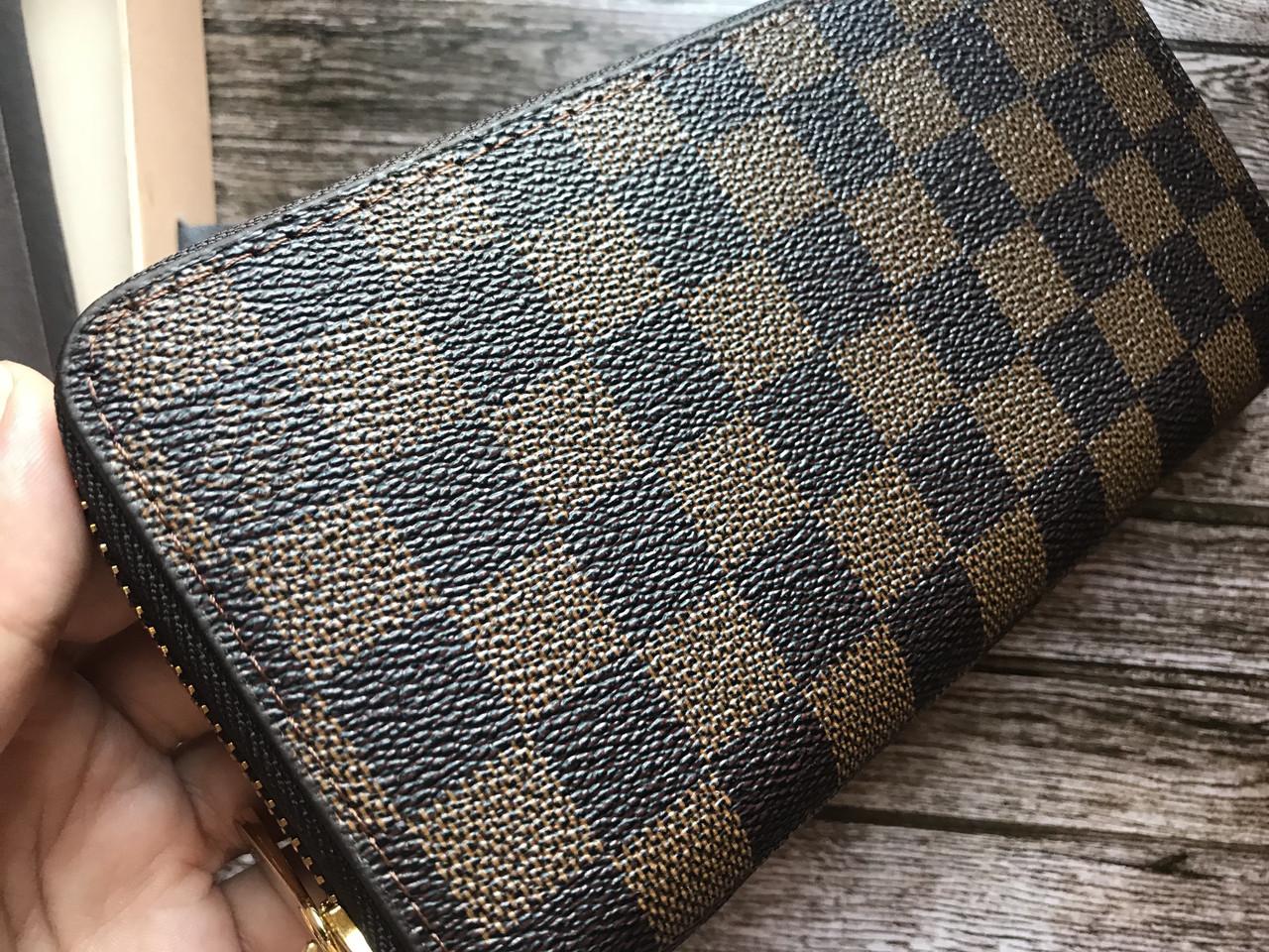 39ba3d7cfaeb Кошелек клатч портмоне бумажник коричневый мужской женский Louis Vuitton  премиум реплика, ...