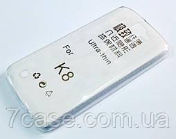 Чехол для LG K8 k350 силиконовый ультратонкий прозрачный