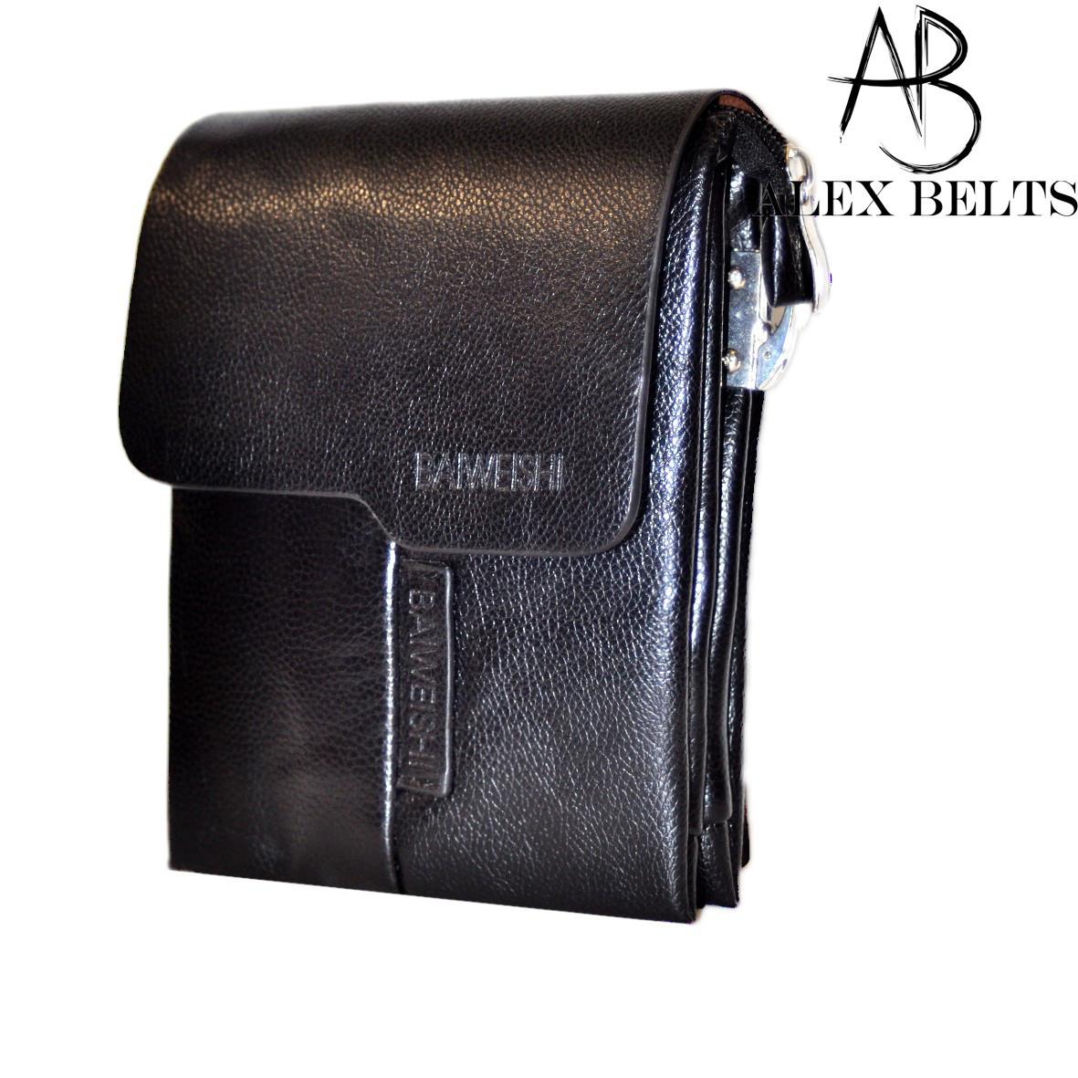 Сумка-планшет мужская через плечо на скрытом магните (кожзам) 18х15 см-купить оптом в Одессе