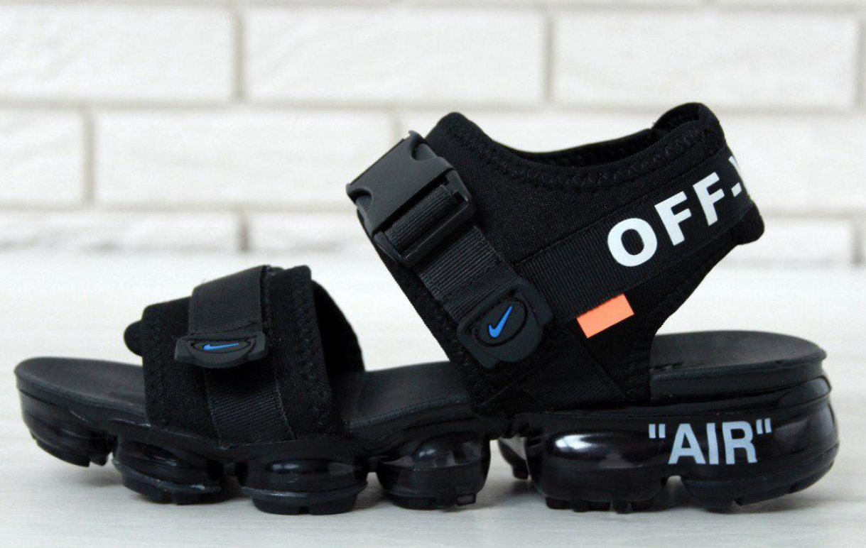 Мужские Сандалии Off white x Nike Air VaporMax Sandals, Сандали Найк Вапор Макс