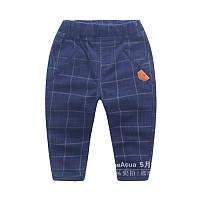 Стильные детские штаны для мальчика в клетку 128-134см.(7-8лет)
