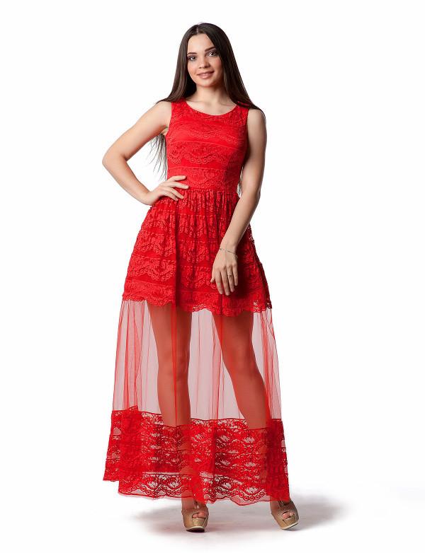 Платье женское красное  вечернее  ENIGMA MKENG 2219