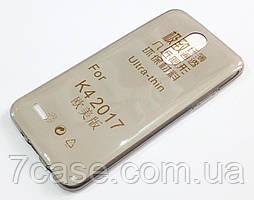 Чехол для LG K4 M160 (2017) силиконовый ультратонкий прозрачный серый