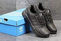 Кроссовки Adidas EQUIPMENT черные кожа мужские реплика, фото 1