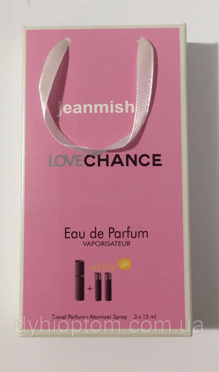 Набір парфумів jeanmishel Love Chance Woman 3по15ml