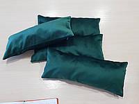 Комплект подушек Плюш зелень, 4шт