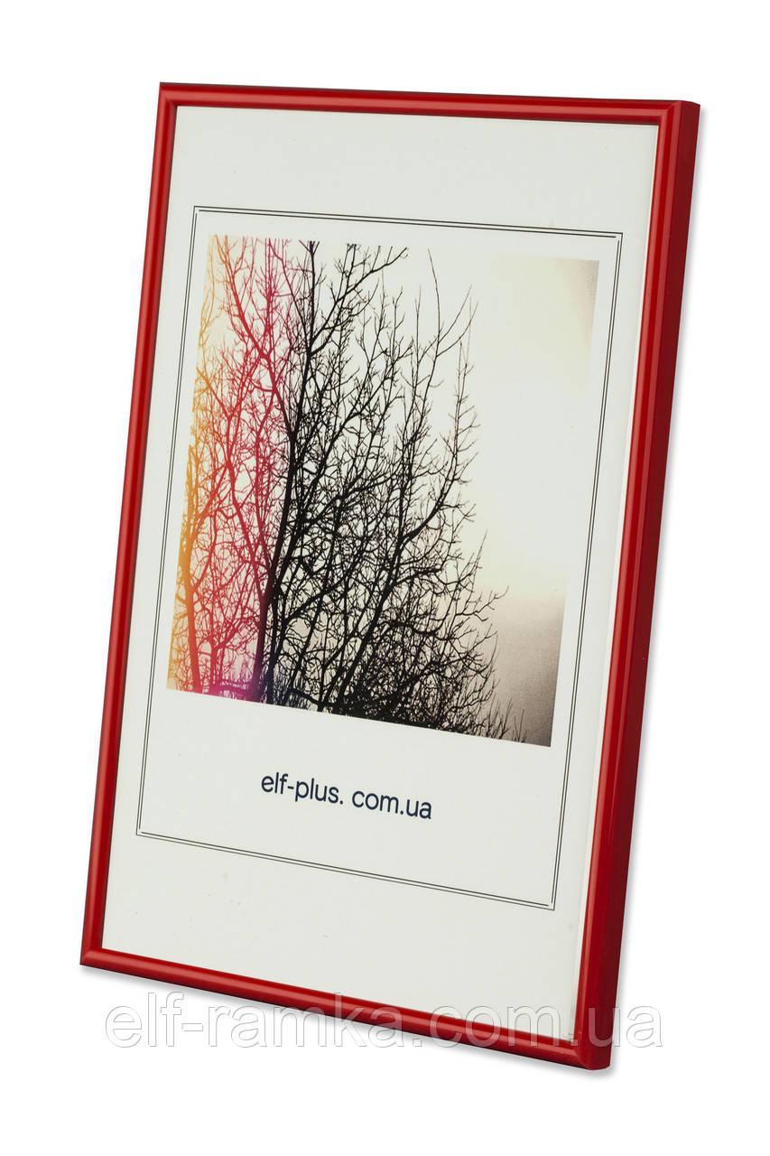 Фоторамка из пластика Красный - для грамот, дипломов, сертификатов, фото, вышивок!