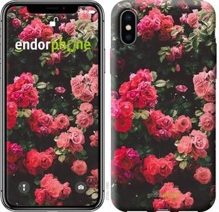 Чехол на iPhone X Куст с розами
