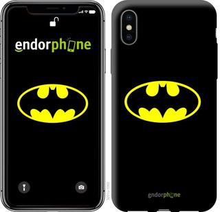 Чехол на iPhone X Бетмен логотип