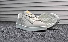 Кроссовки мужские белые Adidas Campus White (реплика) , фото 3
