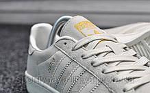 Кроссовки мужские белые Adidas Campus White (реплика) , фото 2