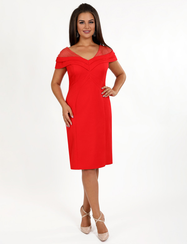 Платье женское красное вечернее ENIGMA MKENP 0087